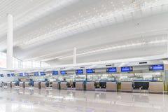 Vue intérieure de terminal de T2 dans l'aéroport de Baiyun Image stock