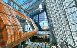 Vue intérieure de Virginia Beach Convention et du centre de conférences images libres de droits