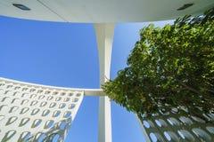 Vue intérieure du bâtiment de thème de LAX Photos stock