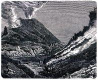 Vue intérieure du cratère du Vésuve Photo libre de droits