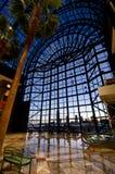 Vue intérieure du jardin d'hiver d'endroit de Brookfield dans NYC. Images stock