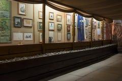 Vue intérieure du musée à la mémoire du grand poète russe du séjour Taman de MON Lermontov dans Septe Photo libre de droits