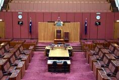 Vue intérieure du sénat australien dans la Chambre du Parlement, Canberra images stock