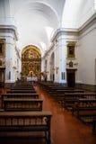 Vue intérieure la de l'église de notre Madame du pilier Photo stock