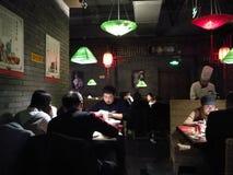 Vue interne dans un restaurant chinois Photo libre de droits