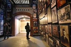 Vue interne du musée commémoratif d'holocauste, dans le Washington DC, les Etats-Unis photos stock