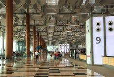 Vue intérieure du terminal 3 à l'aéroport de Changi à Singapour Image libre de droits