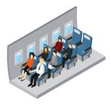 Vue isométrique intérieure d'avions Vecteur Photographie stock libre de droits