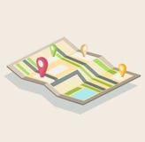Vue isométrique, une carte de ville illustration libre de droits