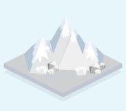 Vue isométrique, une montagne illustration stock