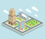 Vue isométrique, ville illustration de vecteur