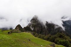 Vue jusqu'au dessus de Huayna Picchu Image stock