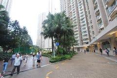 Vue kwan de rue de Tseung o en Hong Kong photos libres de droits