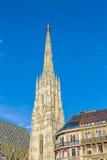 Vue à la cathédrale de St Stephen à Vienne Photographie stock libre de droits