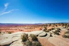 Vue lapidée de déserts près de parc national de Canyonlands photographie stock libre de droits