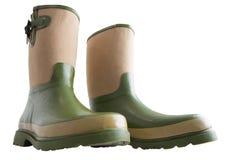 Vue large d'angle faible d'amusement des bottes de jardinage images libres de droits