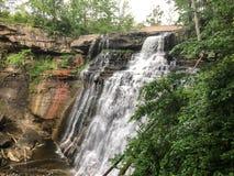 Vue large de cascade au parc national photographie stock libre de droits