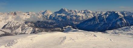 Vue large de Dolomiti Image libre de droits