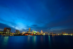 Vue large de ville du Japon Yokohama Photos libres de droits