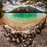 Vue large du lac Plansee, Autriche photographie stock libre de droits