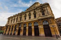 Vue latérale d'Arriaga Theathre à Bilbao Espagne Photographie stock libre de droits