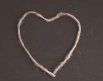 Vue le coeur de la brume de filtre de soins de santé de concept d'amour de ficelle Image stock