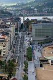 Vue le long d'une rue de San Sebastian image libre de droits