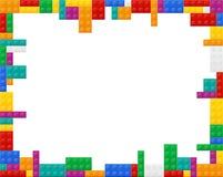 Vue les éléments une vue de plan du constructeur de plastique coloré Photographie stock libre de droits