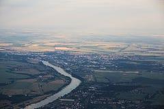 Vue lointaine de Schoenebeck Photos libres de droits