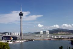 Vue lointaine du Macao image libre de droits