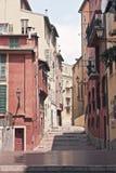 Vue méditerranéenne antique de maisons Images stock