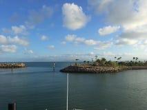 Vue magnétique de bateau d'île Images stock