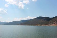 Vue magnifique au lac Florina Greece Prespes photographie stock libre de droits