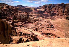 Vue magnifique de PETRA, Jordanie Image libre de droits