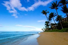 Vue magnifique de plage images libres de droits