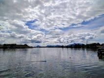 Vue Malaisie Bornéo de rivière de Kuching Photo libre de droits