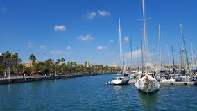 Vue of Marina in Barcelona, Spain. Photo of Marina in Barcelona. Spain stock image