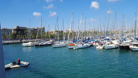 Vue of Marina in Barcelona, Spain Royalty Free Stock Photos