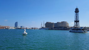 Vue of Marina in Barcelona, Spain. Photo of Marina in Barcelona. Spain royalty free stock photography