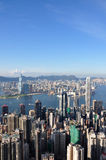 Vue maximale 2010 de Hong Kong Image libre de droits