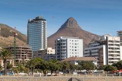 Vue maximale de diables de Capetown de promenade de point de mer images libres de droits