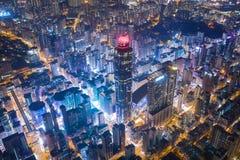 Vue merveilleuse de nuit de Hong Kong image stock