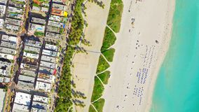 Vue Miami Beach d'oeil du ` s d'oiseau photo libre de droits