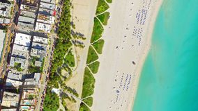 Vue Miami Beach d'oeil du ` s d'oiseau photos stock