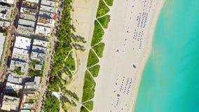Vue Miami Beach d'oeil du ` s d'oiseau Photos stock
