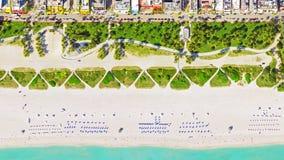 Vue Miami Beach d'oeil du ` s d'oiseau Photo stock