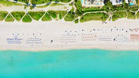 Vue Miami Beach d'oeil du ` s d'oiseau image libre de droits