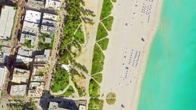 Vue Miami Beach, d'oeil du ` s d'oiseau vidéo 4k banque de vidéos