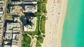 Vue Miami Beach, vidéo d'oeil du ` s d'oiseau banque de vidéos