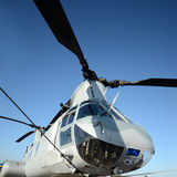 Vue militaire de plan rapproché d'hélicoptère Photographie stock